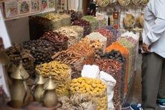Kryddamarknad Dubai Arkivfoton