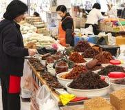 Kryddamarknad Sydkorea royaltyfri fotografi