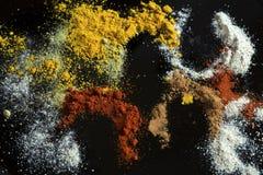 kryddar olikt arkivfoton
