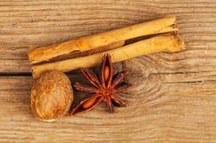 kryddar trä Arkivfoto
