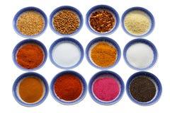 kryddar variation Royaltyfri Fotografi