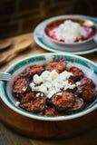 Kryddig aubergine med keso Fotografering för Bildbyråer