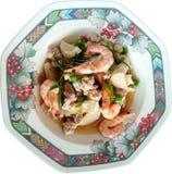 Kryddig blandad sallad för thailändsk stil Arkivbilder