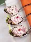 Kryddig brynt tonfisk royaltyfri bild