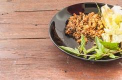 Kryddig finhackad grisköttsallad Royaltyfria Bilder