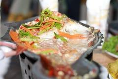 Kryddig fisksoppa Arkivfoto