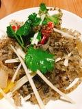Kryddig kinesisk maträtt Arkivbild