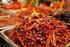 Kryddig korean Kimchee royaltyfria foton