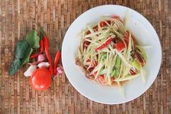 Kryddig mat för thailändsk stil, thailändsk SomTum Royaltyfria Bilder
