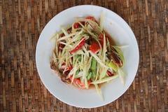 Kryddig mat för thailändsk stil, thailändsk SomTum Arkivbilder