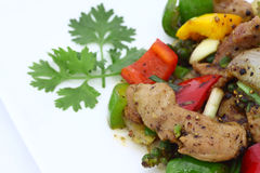 Kryddig maträtt för thailändsk nötköttsallad. Arkivbilder