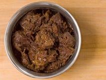 Kryddig nötköttrendang Arkivfoton