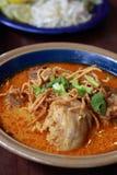 Kryddig nudel för nordlig Thailand stil Royaltyfria Bilder