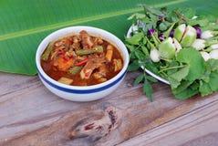 Kryddig och varm soppa arkivfoto