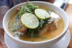 Kryddig soppa för grisköttstöd Royaltyfria Bilder