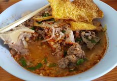 Kryddig soppa för nudel Royaltyfri Foto