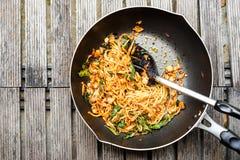 kryddig spagetti Arkivbilder