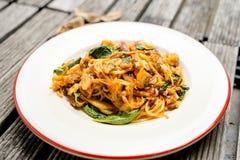kryddig spagetti Fotografering för Bildbyråer
