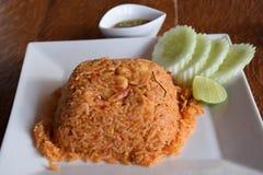 Kryddig stekt rice royaltyfria bilder
