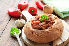 kryddig stew för nötkött arkivfoton