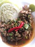 Kryddig thai mat av thai folk Royaltyfria Foton