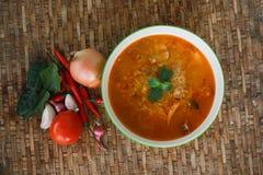 kryddig thai tom för räkasoup traditionell yum Arkivfoton