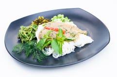 Kryddig thailändsk laksa Arkivfoto