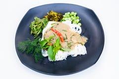 Kryddig thailändsk laksa Arkivfoton