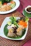 Kryddig thailändsk mat royaltyfria bilder