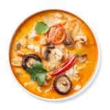 Kryddig thailändsk soppa Tom Yam Arkivbild