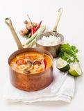 Kryddig thailändsk soppa Tom Yam Royaltyfria Foton