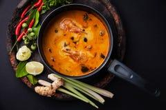 Kryddig thailändsk soppa Tom Yam Arkivfoton