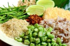 Kryddig thailändsk kokkonstKhao sötpotatis Royaltyfri Fotografi