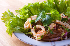 kryddig tioarmad bläckfisk Arkivfoto