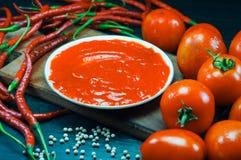 kryddig tomat för sås Arkivfoton