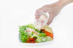 kryddig tonfisk för sallad Arkivbild