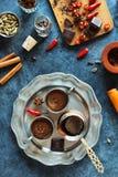 Kryddiga Chili Mexican Aztec Hot Chocolate Royaltyfri Bild