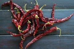 Kryddiga chilies Arkivbilder