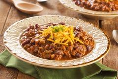 Kryddiga hemlagade Chili Con Carne Soup Arkivfoton