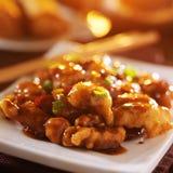 Kryddiga kinesiska generaltsos höna Royaltyfria Foton