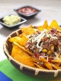 kryddiga nachos royaltyfri fotografi