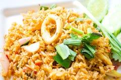 Kryddiga stekte ris Arkivbilder