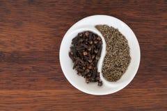 Kryddiga ying yang Royaltyfri Fotografi
