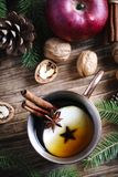 Kryddigt äpplete Sammansättning för begrepp för vinterferie arkivbilder