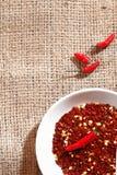kryddigt för varma peppar för chili rött Royaltyfri Foto