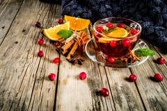 Kryddigt te för tranbär fotografering för bildbyråer