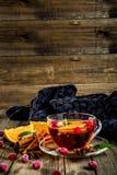 Kryddigt te för tranbär royaltyfria bilder