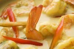 kryddigt thai för havs- soup Arkivfoto