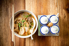 kryddigt thai för nudel Arkivbild