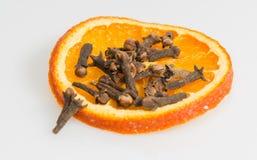 Kryddnejlika med den orange skivan fotografering för bildbyråer